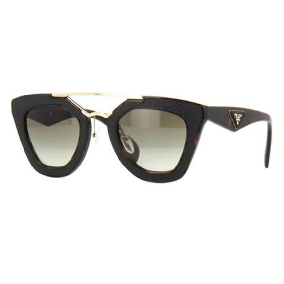 90db73507d Sold Prada Sunglasses Dark Havana w Green Lens